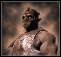 Orc Portrait by Vehemel