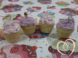 Fairy floss scented cuppycake charms by ilikeshiniesfakery