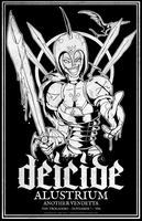 WAR - Deicide 2012 Gig Poster by luvataciousskull