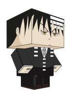 DEATH THE KID PAPERTOY by animepapertoys