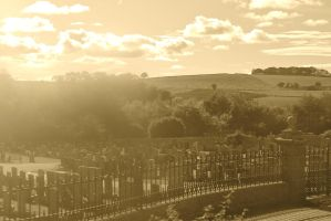 Sun Shining Over Ellon Cemetery by amberjervier