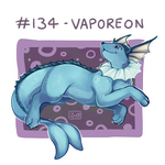 134 - Vaporeon by Electrical-Socket