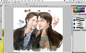 Charles and Wesley WIP by Brilcrist