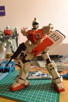 GM Ground type (veteran pose ) ready to engage by ShiroiZaku