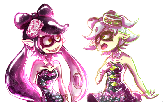 Squid sisters (commission) by Meg-chan1391