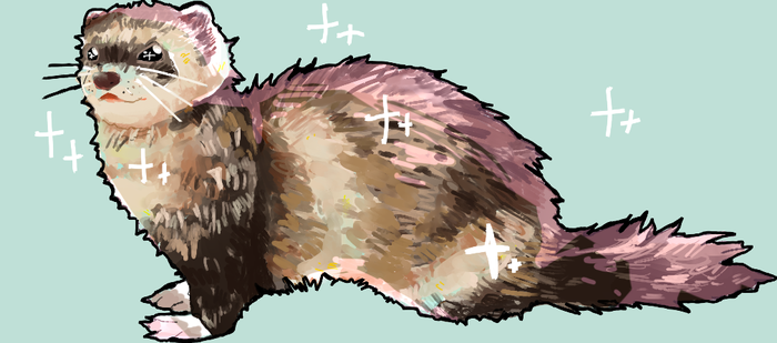 A Smol Ferret (commissioned artwork) by Ryomelons