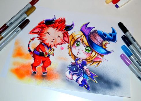 Devil Teemo falling in Love by Lighane