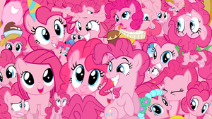 Pinkie Pie Collage Wallpaper by brightrai