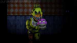 [4K] The Cupcake and Nightmare Chica by PurpleFloof