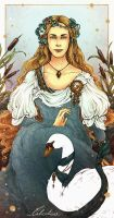 Leda-Valentyne O. Shields - The Swan and the Reeds by Calicot-ZC
