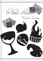french cuisine, black and white cover. by stephhabes