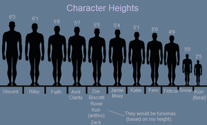 Character Heights by ScottishRedWolf