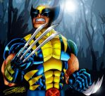 WOLVERINE: Moonlit Forest by VAXION