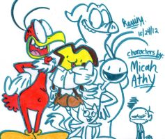 The Cast of Dennis and Mr. Toast by EeyorbStudios