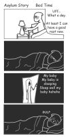 Asylum Story  Bed Time by EfrieredNihil