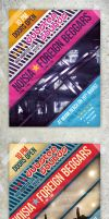 Modern Clean Party Flyers / Club Posters by env1ro