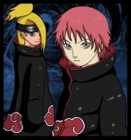 Sasori and Deidara. by abzies