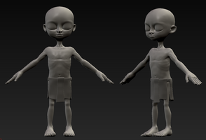 Thesis boy model (WIP) by DrSketch