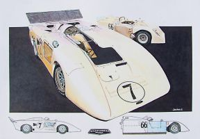 Chaparral 2H and 2J by johnwickart