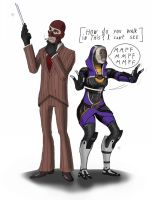 Mass Fortress Meet the spy by spaceMAXmarine