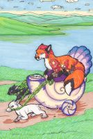 Kitsune Tarot: 7 - The Chariot by nonanut