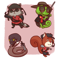 TF2: Animals by forte-girl7