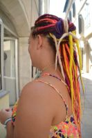 Rainbow dreads - custom made by Psycho Lily by PsychoLilyDreads