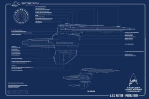 USS Patton-Profile Plan by astristech