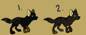Free Wolf Pups by Sterling-Adopts