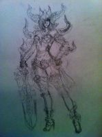 Female Dage The Evil WIP by mechaprime-00