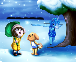 ACNL Snowfall by CommonLemon