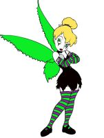Coloring: Gothic TinkerBell by Deaths-Own-Angel