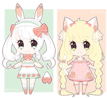 Lace kemonomimi adopts - CLOSED by mahkala