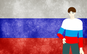 HM CSF Russia flag background by ABtheButterfly