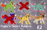 Sweet Adopts for sale! by Werepuppy