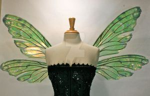 Teasel Painted Wings Absinthe2 by FaeryAzarelle