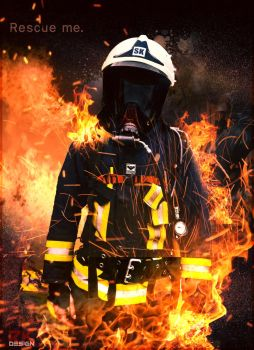 Fire Fighter photomanipulation by QuarterDesign