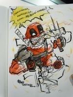 Deadpool with Chimichanga by JoJo-Seames