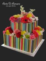 Bright Colorful Cake by ArteDiAmore