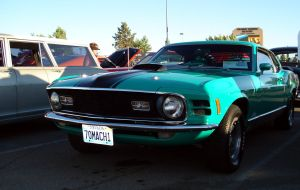 1970 Mustang Mach 1 green by CobaltGriffin