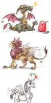 Majestic Fantasy Animals by Sysirauta