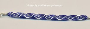 Woven waves bracelet by pralinkova-princezna