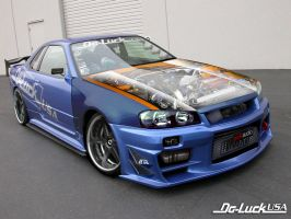 Nissan skyline by Sharpter-7