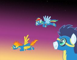 MLP - Flying With The Wonderbolts by ArdanBlade