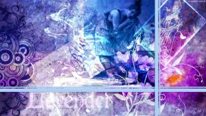 Lavender Blue Collage by StarwaltDesign