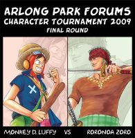 OP - Zoro vs Luffy by e1n