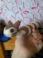 Simplified Furret Plush by Vulpes-Canis