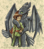 HiccupXToothless - You're Mine by shazy