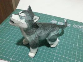 Husky Puppy Papercraft by bslirabsl