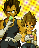 Vegeta's inner child by FrontierComics